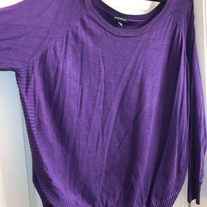Lane Bryant purple sweater with scalloped hem